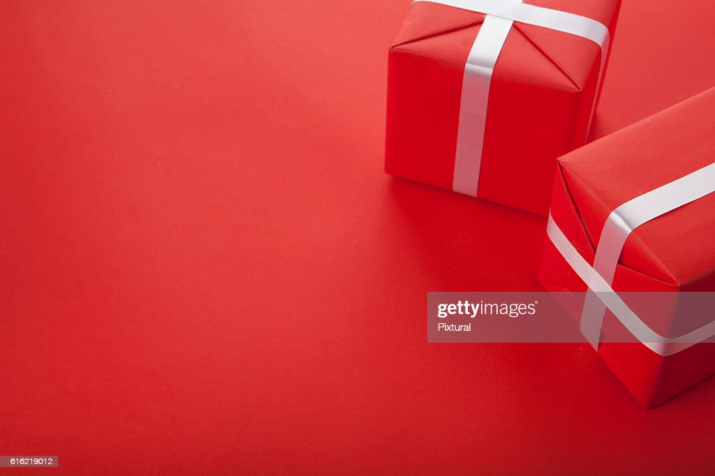 Present  box  with copy space : Stock-Foto