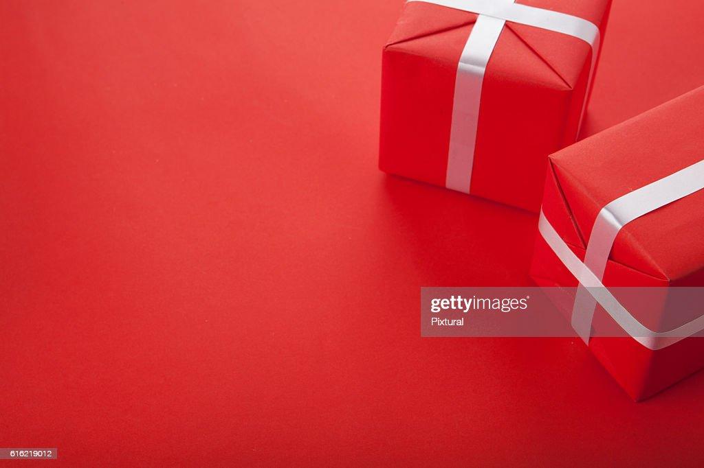 Present  box  with copy space : ストックフォト