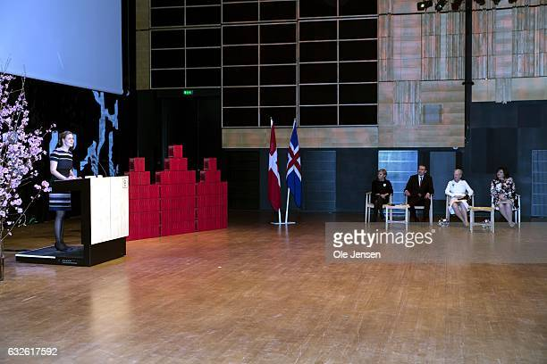 Presentation ceremony at the 'The Black Diamond' on the occasion of visiting Icelandic President Gudni Thorlacius Johannesson who gave a national...