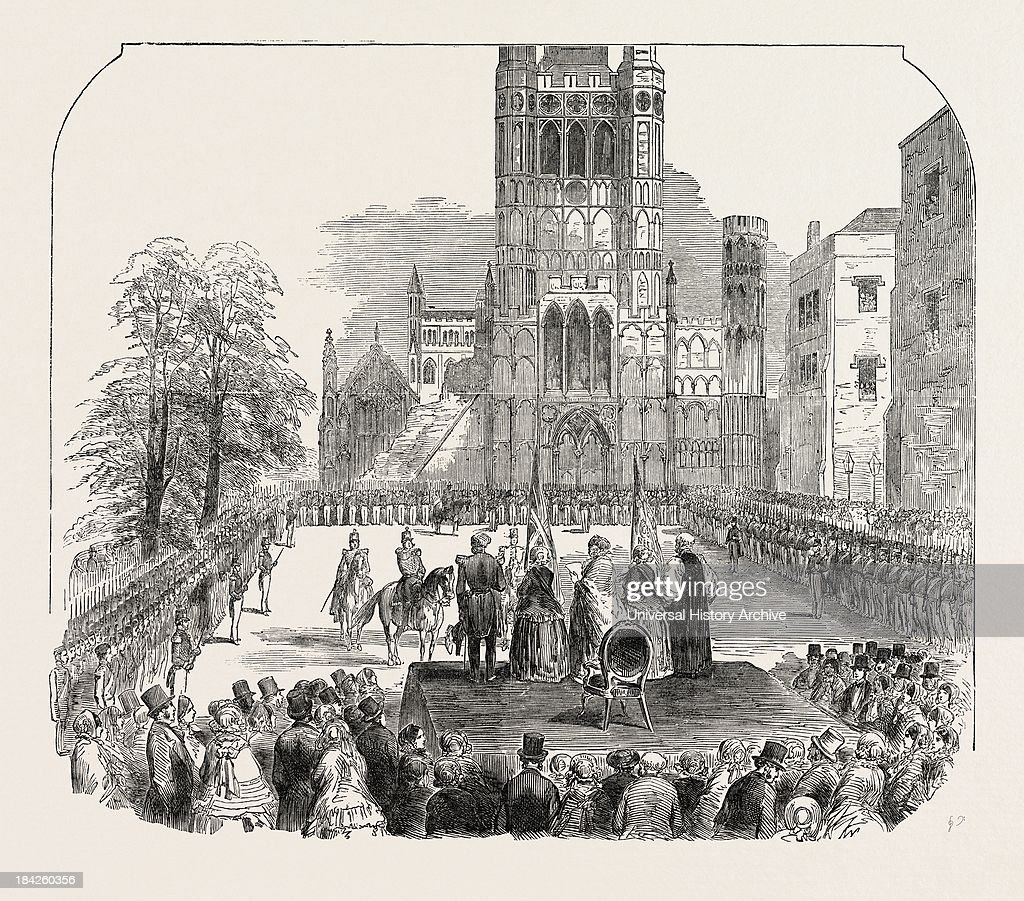 Presentation Of Colours To The Cambridgeshire Militia At Ely 1854