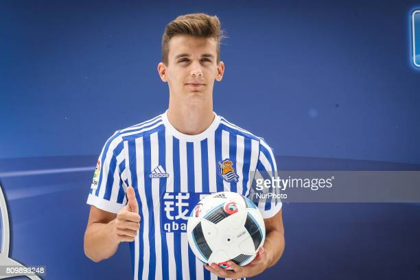 Presentation of Diego LLorente as a player of the Real Sociedad in the Anoeta Stadium at San Sebastian on July 6 2017