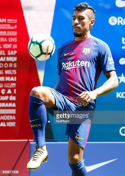 Presentation of Paulinho as new player of the FC Barcelona in Barcelona on August 17 2017 Photo JoanValls/Urbanandsport/Nurphoto