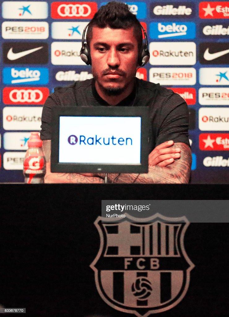 Presentation of Paulinho as new player of the FC Barcelona, in Barcelona, on August 17, 2017. Photo: JoanValls/Urbanandsport/Nurphoto --
