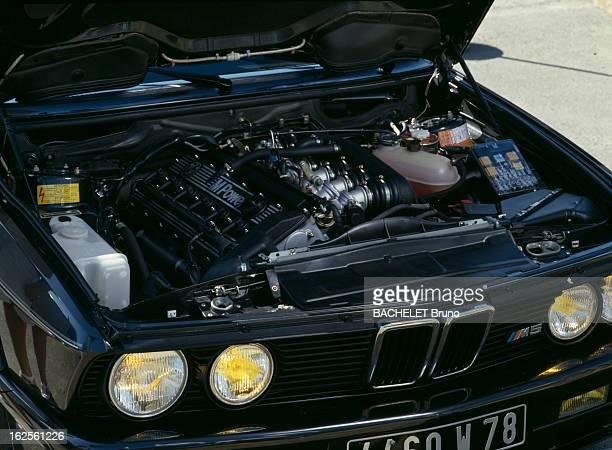 Presentation Of The Bmw M 53I Injection Yvelines Parc de Thoiry Octobre 1985 Présentation de la BMW M 531 Injection le moteur situé à l'avant montré...