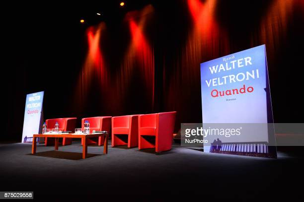 Presentation of the book 'Quando' by Walter Veltroni at Auditorium Rome on november 16 2017