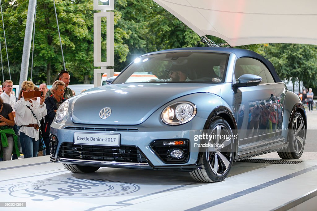Presentation of the Denim Beetle during the 12th Beetle Sunshine Tour To Travemuende the 12th Beetle Sunshine Tour on August 20 2016 in Luebeck...