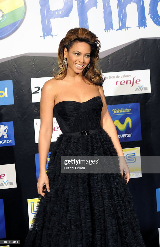 Presentation of 'The forty principals' singers, Beyonce, 12th December 2008, 'Palace of Sports', Madrid, Spain.