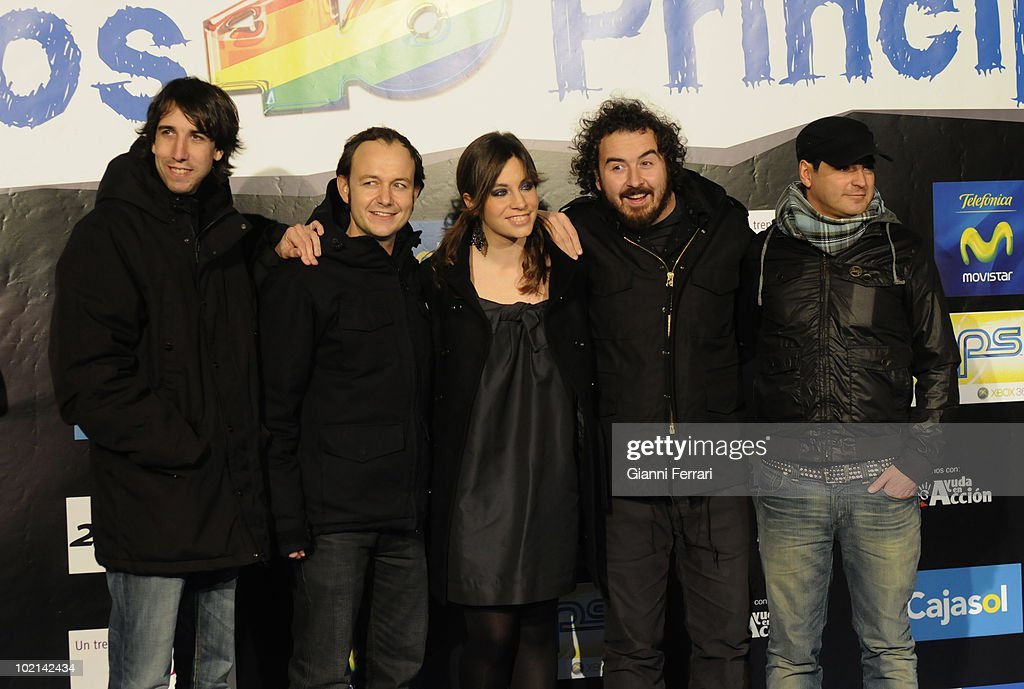 Presentation of 'The forty principals' singers, La Oreja de Van Gogh, 12th December 2008, 'Palacio de los Deportes', Madrid, Spain.