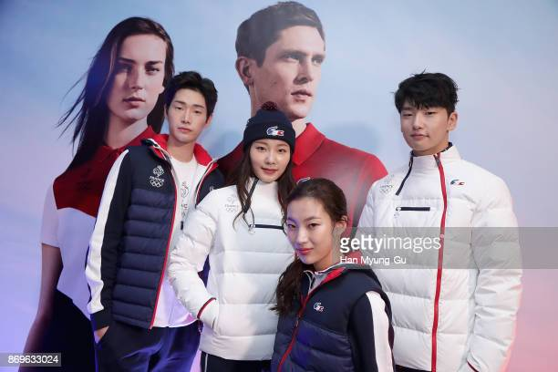 Presentation of the outfit for French athletes competing for France in the upcoming Winter Olympic Games 2018 in South Korea at the LACOSTE France...