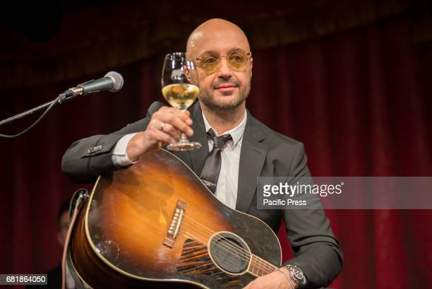 Presentation of 'Vino Veritas' by Joe Bastianich at the Franco Parenti Theater in Milan