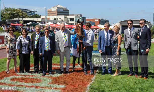 Presentation to connections of Black Heart Bart after winning the italktravel Futurity Stakes at Caulfield Racecourse on February 25 2017 in...