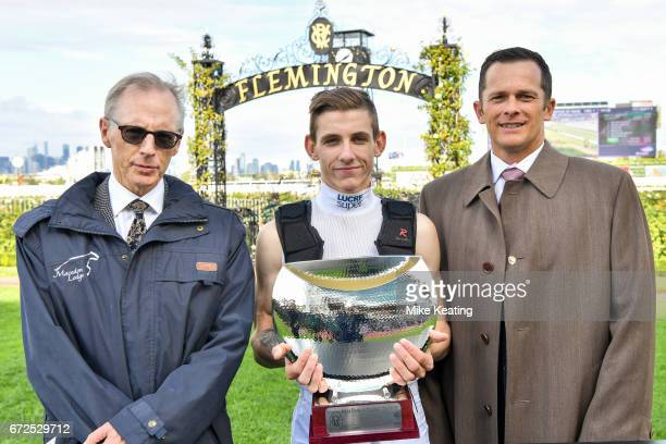Presentation to connections of Hans Holbein with Beau Mertens after winning the Flt Lt Peter Armytage Handicap at Flemington Racecourse on April 25...