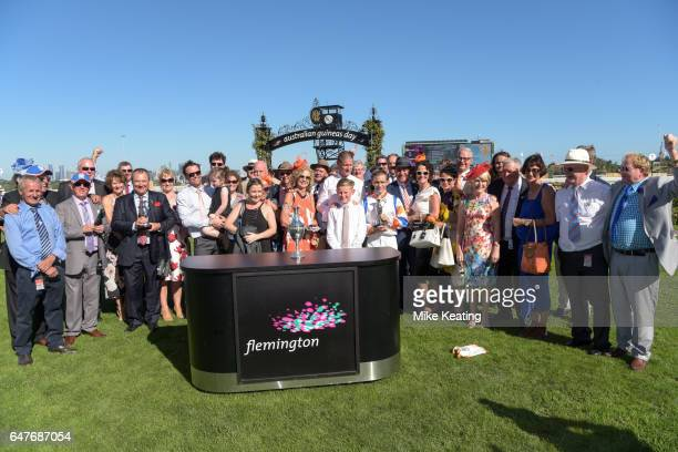 Presentation to connections of Hey Doc after winning the Australian Guineas at Flemington Racecourse on March 04 2017 in Flemington Australia
