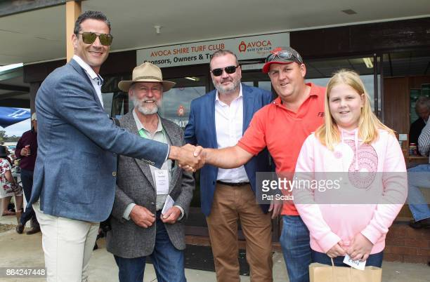 Presentation to connections of Normandy Lad after winning McConnell Dowell Martinus Rail BM52 Handicapat Avoca Racecourse on October 21 2017 in Avoca...
