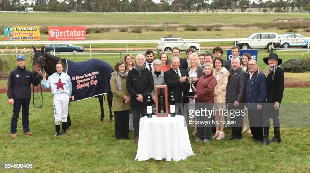 Presentation to owners of Super Mover after winning the Di Giorgio Family Wines Apsley Cup at Hamilton Racecourse on June 11 2017 in Hamilton...