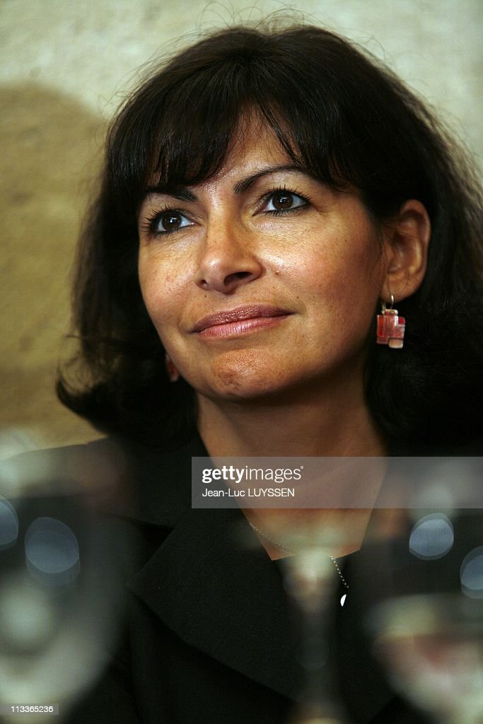 Presentation To The Press By Bertrand Delanoe Of Socialist Heads List For Municipal In Paris France On October 19 2007 Anne Hidalgo