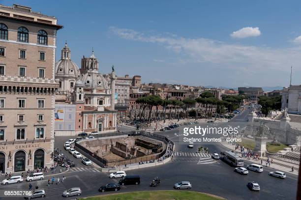 Presented 3 new routes on the roof of Piazza Venezia for visitors to be inaugurated on June 22nd pictured Piazza Venezia Foro Romano Colosseo during...