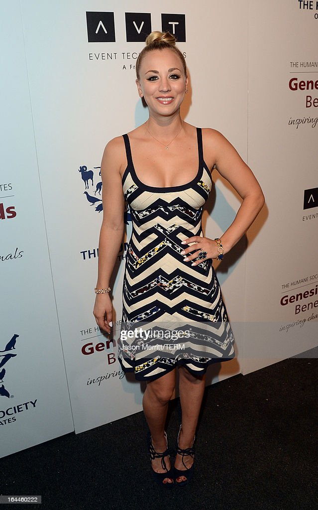 Presenter actress Kaley Cuoco attends The Humane Society of the United States 2013 Genesis Awards Benefit Gala at The Beverly Hilton Hotel on March 23, 2013 in Los Angeles, California.