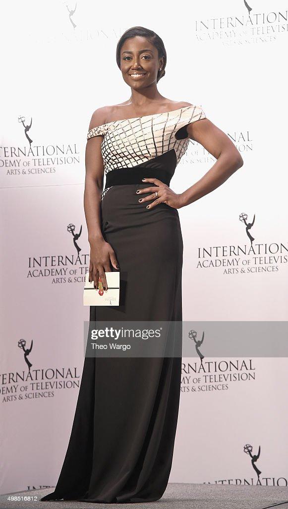Presenter Actress Patina Miller attends 43rd International Emmy Awards at New York Hilton on November 23 2015 in New York City