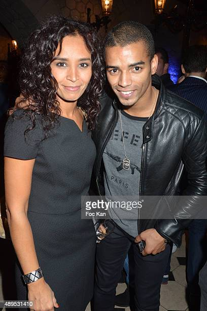 TV presenter Aida Touihri and dancer Brahim Zaibat attend the 'FIFA 16 Live Event' at the Faust Club on September 21 2015 in Paris France