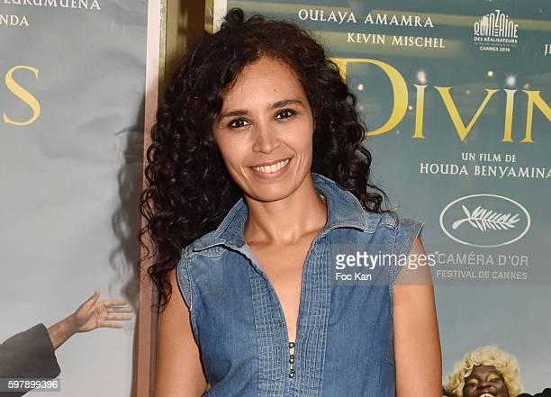 TV presenter Aida TouihriÊattends the 'Divines' Paris Premiere at UGC Cite Cine des Halles on August 29 2016 in Paris France