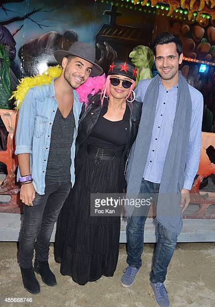 TV presenter Alban Bartoli Laam and Yoann Freget from the Voice attend the 'Fete A Neu Neu' Opening Party to Benefit Laurette Fugain Against Leucemy...