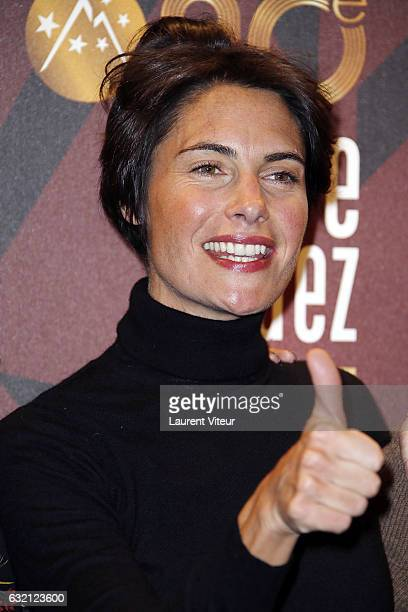 TV Presenter Alessandra Sublet attends 'Sous le Meme Toit' Photocall during tne 20th L'Alpe D'Huez International Film Festival on January 19 2017 in...