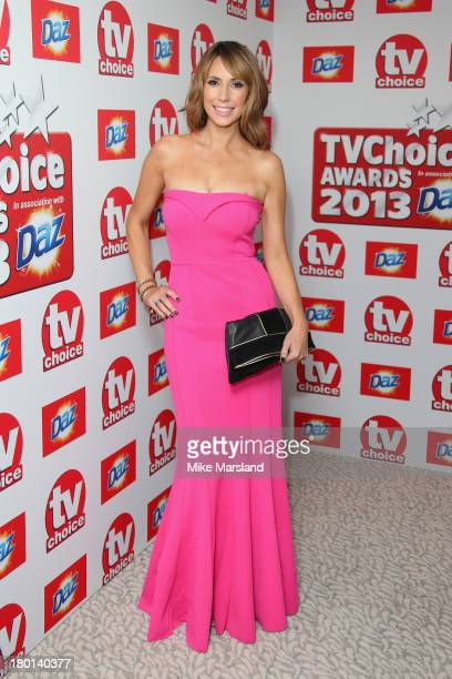 Presenter Alex Jones attends the TV Choice Awards 2013 at The Dorchester on September 9 2013 in London England