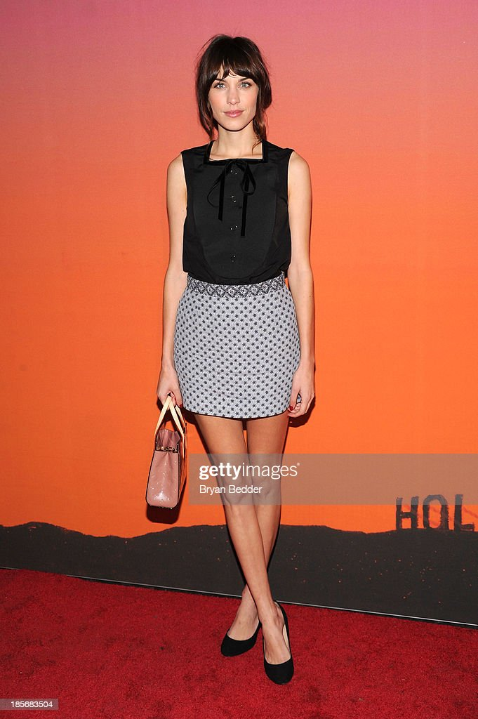 Presenter <a gi-track='captionPersonalityLinkClicked' href=/galleries/search?phrase=Alexa+Chung&family=editorial&specificpeople=3141821 ng-click='$event.stopPropagation()'>Alexa Chung</a> arrives for the Whitney Museum of American Art Gala & Studio Party 2013 Supported By Louis Vuitton at Skylight at Moynihan Station on October 23, 2013 in New York City.