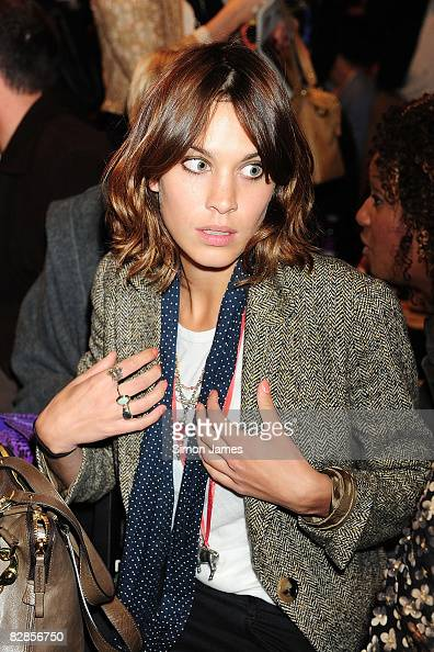 TV presenter Alexa Chung attends the House of Holland fashion show at Bloomsbury Ballroom during London Fashion Week Spring/Summer 2009 on September...