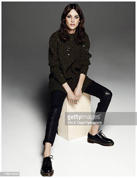 107318006 TV presenter Alexa Chung is photographed for Madame Figaro on July 6 2013 in Paris France Sweater jeans ring shoes PUBLISHED IMAGE CREDIT...