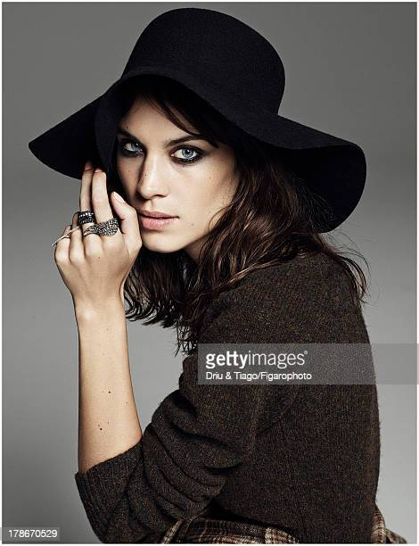 107318018 TV presenter Alexa Chung is photographed for Madame Figaro on July 6 2013 in Paris France Body hat rings CREDIT MUST READ Driu...