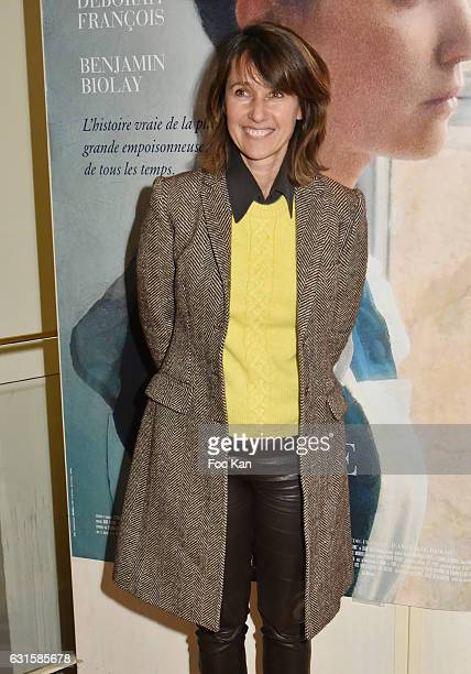 TV presenter Alexia Laroche Joubert attends 'Fleur de Tonnerre' Paris Premiere at Cinema l'Arlequin on January 12 2017 in Paris France
