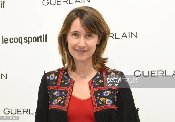TV presenter Alexia Laroche Joubert attends Le Coq Sportif x Guerlain photocall at the Le Coq Sportif Flagship on May 31 2017 in Paris France