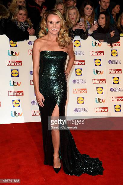 Presenter Amanda Holden attends the Pride of Britain awards at The Grosvenor House Hotel on October 6 2014 in London England