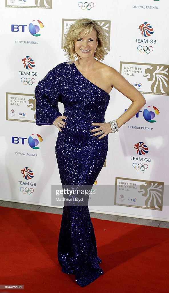 Presenter Amanda Holden poses on the red carpet at the British Olympic Ball at Grosvenor House hotel on September 24, 2010 in London, England. Over 60 Olympic medallists joined an audience of over 1100 to raise funds for Team GB ahead of the London 2012 Olympic Games.