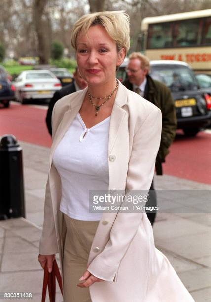 GMTV presenter Amanda Redington arriving at the Grosvenor House in central London for the Television and Radio Industries Club awards