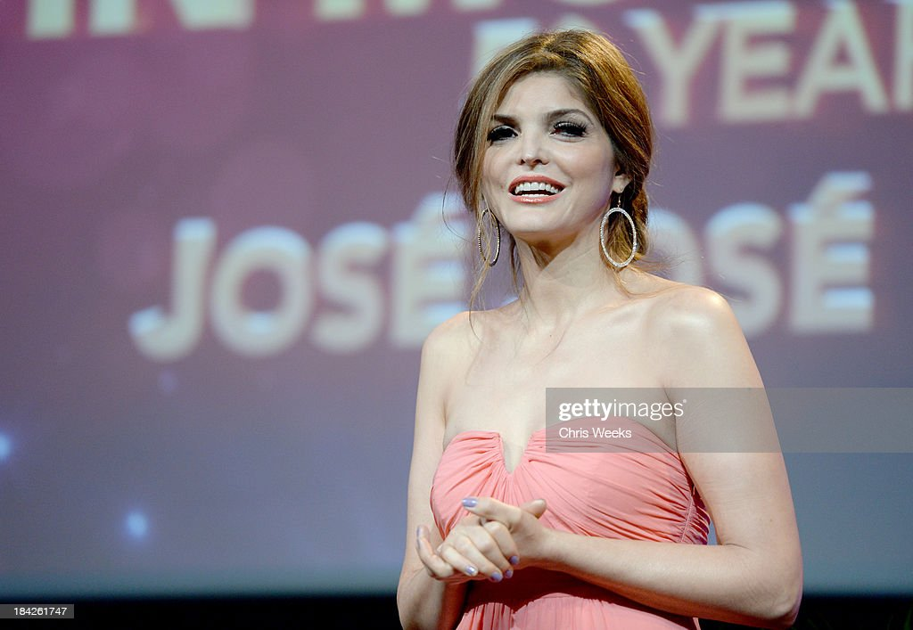 Presenter <a gi-track='captionPersonalityLinkClicked' href=/galleries/search?phrase=Ana+Barbara&family=editorial&specificpeople=2164808 ng-click='$event.stopPropagation()'>Ana Barbara</a> speaks onstage at the '2013 Latinos de Hoy Awards' Sponsored by OneLegacy on Saturday, October 12 at Los Angeles Times Chandler Auditorium in Los Angeles, California.