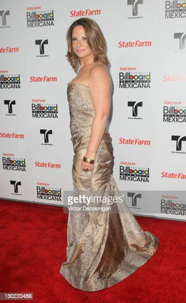 Presenter Ana Maria Polo arrives for the 2011 Billboard Mexican Music Awards at Orpheum Theatre on October 20 2011 in Los Angeles California