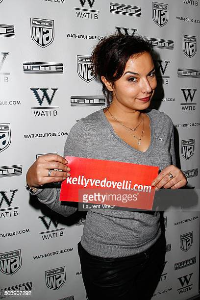 Presenter Anais Baydemir attends the Launch of Kelly Vedoveli's blog at Bridge Club on January 7 2016 in Paris France