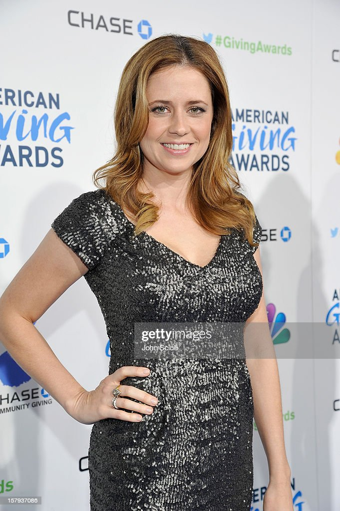 Presenter and actress, Jenna Fischer arrives at the American Giving Awards presented by Chase held at the Pasadena Civic Auditorium on December 7, 2012 in Pasadena, California.