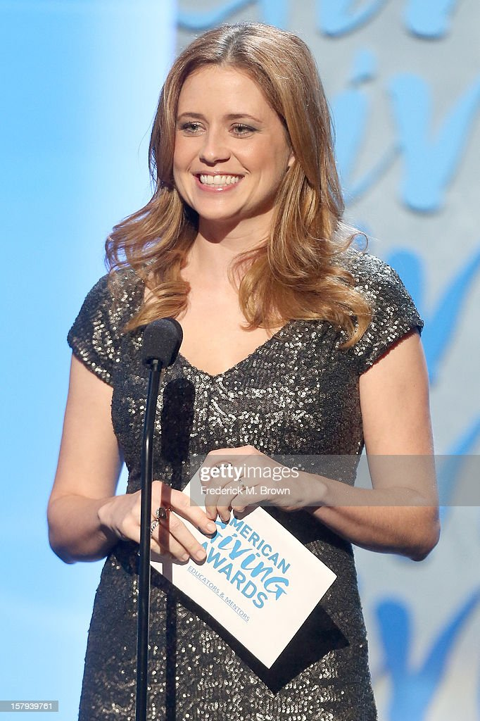 Presenter and actress, Jenna Fischer onstage at the American Giving Awards presented by Chase held at the Pasadena Civic Auditorium on December 7, 2012 in Pasadena, California.