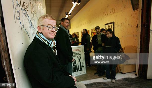 TV presenter and business entrepreneur Chris Evans and his buisness partner Pete Winterbottom pose at Camden Stables Market on November 27 2004 in...