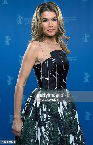 Presenter Anke Engelke poses during the 65th International Film Festival Berlinale in Berlin on February 14 2015 AFP PHOTO / POOL /TIM BRAKEMEIER