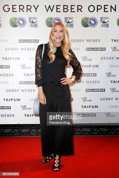 Presenter Anna Kraft attends the Gerry Weber Open Fashion Night 2017 at Gerry Weber Stadium on June 24 2017 in Halle Germany