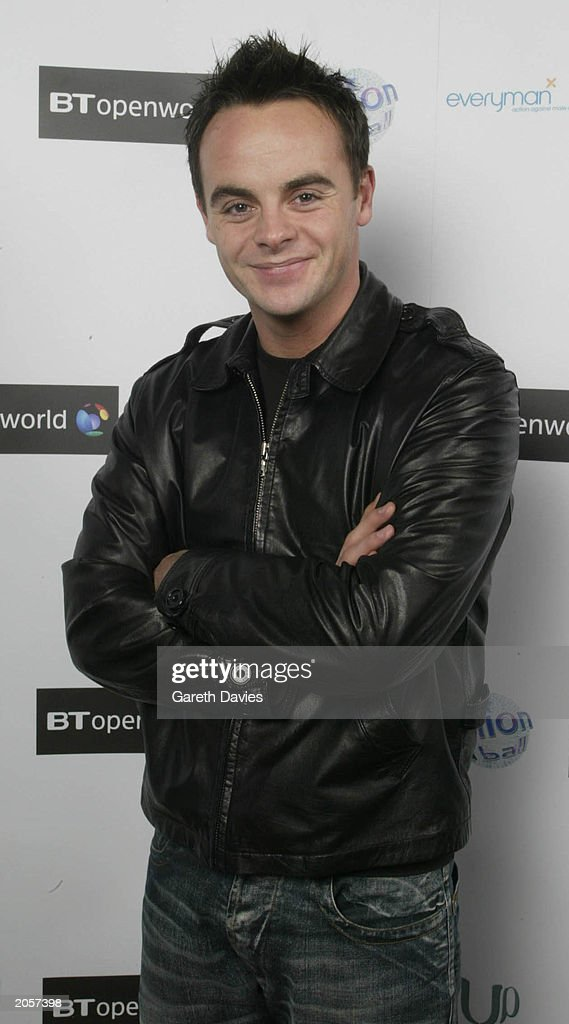 TV presenter Ant McPartlin in the Turbine Hall of the Tate Modern on the Southbank in London on December 3, 2002. McPartlin was attending a Fashionball event held in association with BT Openworld bringing celebrities, designers and top name DJs together to raise awareness of the Everyman testicular cancer charity.