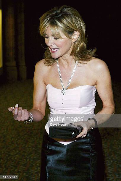 Presenter Anthea Turner attends the 'Hats Off To Barbados' fashion show and annual ball hosted by The Barbados Tourism Authority on November 22 2004...