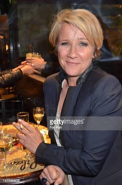 TV presenter Ariane Massenet attends La Closerie des Lilas Litterary Awards 2012 5th Edition at La Closerie Des Lilas on April 3 2012 in Paris France