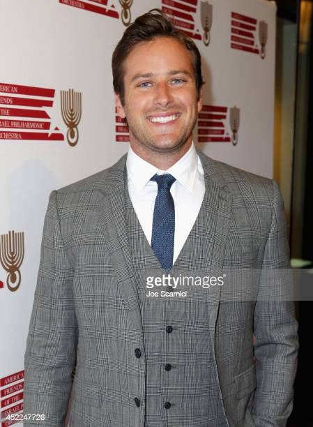Presenter Armie Hammer attends American Friends Of The Israel Philharmonic Orchestra Benefit Honoring Hans Zimmer at Wallis Annenberg Center for the...