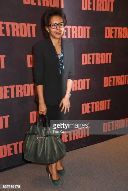 TV presenter Audrey Pulvar attends the ' Detroit ' Premiere at UGC Normandie on September 29 2017 in Paris France